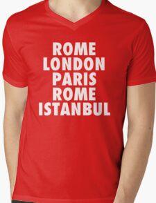 Liverpool Champions League Destinations. Mens V-Neck T-Shirt
