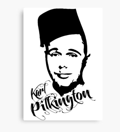 Karl Pilkington - Fez Canvas Print