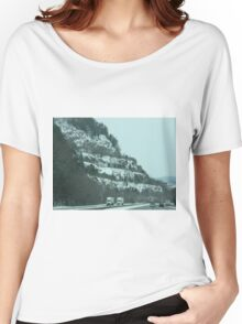 Snowy Mountains & Road Women's Relaxed Fit T-Shirt