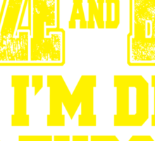 MAIZE AND BLUE 'Till I'm Dead And Through Sticker