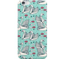 Origami Swans - Spring by Andrea Lauren iPhone Case/Skin