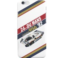Le Mans 24 Hours 1982 Porsche 956 Ickx Bell iPhone Case/Skin