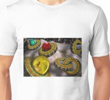 Marshmallows Melted with Pickled Glass Circles and Tomato Men Unisex T-Shirt
