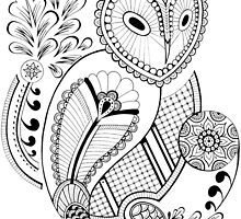 Paisley Owl by laurelhach