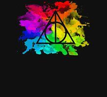 Rainbow Hallows 2 (black background) Unisex T-Shirt
