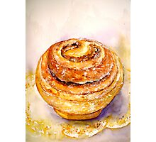 Delicious ..Cinnamon Bun Photographic Print