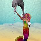 The Mermaid and the Dolphin by LoneAngel