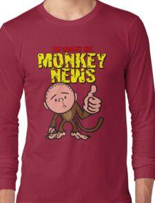 Karl Pilkington - Monkey News Long Sleeve T-Shirt