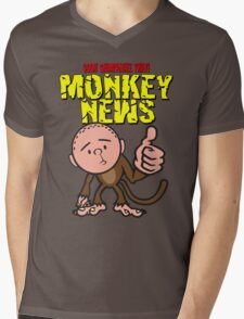 Karl Pilkington - Monkey News Mens V-Neck T-Shirt