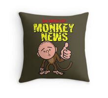 Karl Pilkington - Monkey News Throw Pillow