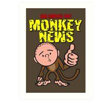 Karl Pilkington - Monkey News Art Print