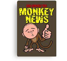 Karl Pilkington - Monkey News Canvas Print
