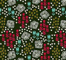 Butterfly Garden - Tulips by Andrea Lauren by Andrea Lauren