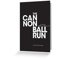 The Cannonball Run - Lamborghini Countach Greeting Card