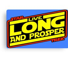 Live Long & Prosper Strikes Back Canvas Print