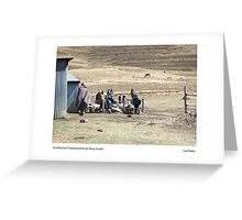 Wool Shed and Containment Pen for Sheep, Lesotho Greeting Card