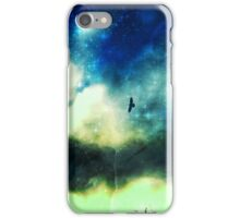 Bird Flying through Star filled Sky. iPhone Case/Skin