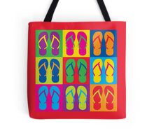 Pop Art Flip Flops Tote Bag