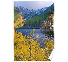 Longs Peak and Fall Colors Poster