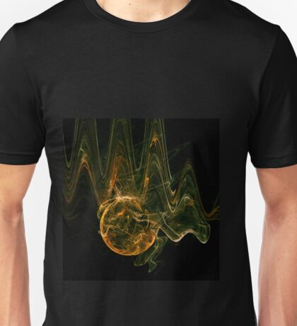 """world spiritual """"new age"""" space gold waves  Unisex T-Shirt"""