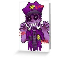 The Purple Man Greeting Card