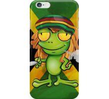 Rastafarian frog cartoon iPhone Case/Skin