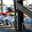 Row of Jet Skis by LenaHunt
