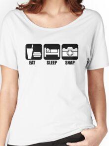 Eat Sleep Snap Women's Relaxed Fit T-Shirt