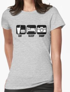 Eat Sleep Snap Womens Fitted T-Shirt