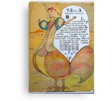 The Rooster. Chinese Horoscpe Canvas Print