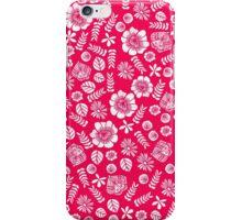 Butterfly Garden Florals - Pink iPhone Case/Skin
