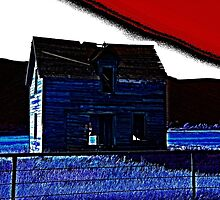 Penciled Blue Barn by Christina Stanley