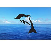 Tribal Sea Life - Dolphin Photographic Print