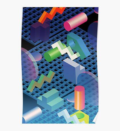 digital landscape i  Poster