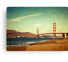 Vintage Golden Gate Canvas Print