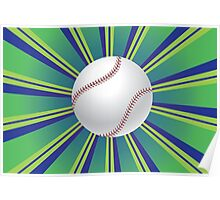 Baseball Ball Background Poster
