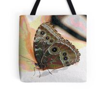 Butterfly Oil Pastel Tote Bag