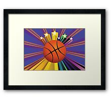 Basketball Ball Background 2 Framed Print