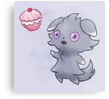 Pokemon Espurr Poffin Metal Print