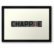 CHAPPiE shirt Framed Print