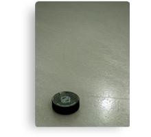 Circular Frozen Black Rubber Canvas Print