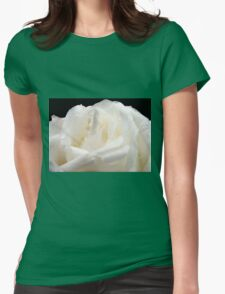 White rose and drops Womens Fitted T-Shirt