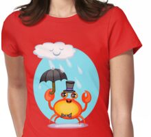 Singing In The Rain Crab T-Shirt Womens Fitted T-Shirt