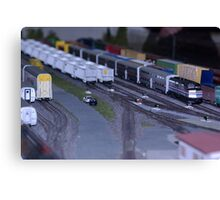 Model Train Show in HO Scale   Canvas Print