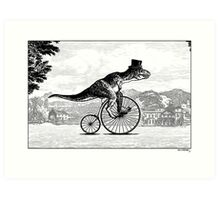 T-Rex on a Penny Farthing Art Print