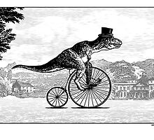 T-Rex on a Penny Farthing by Smaggers
