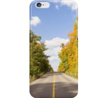 Autumn Road to Nowhere 2 iPhone Case/Skin
