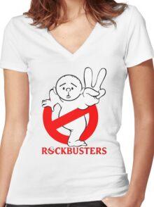 Karl Pilkington - RockBusters Women's Fitted V-Neck T-Shirt