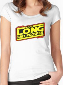 Live Long & Prosper Strikes Back Women's Fitted Scoop T-Shirt