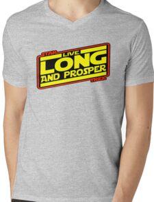 Live Long & Prosper Strikes Back Mens V-Neck T-Shirt